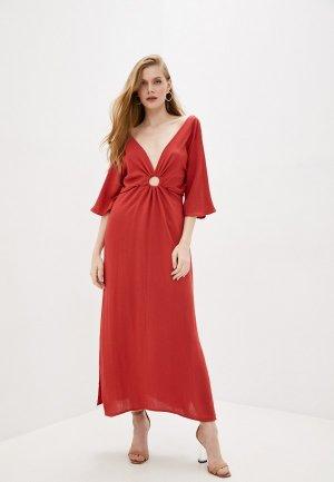 Платье Sweewe. Цвет: коричневый
