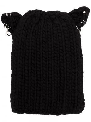 Шляпа с кольцами Eugenia Kim. Цвет: черный