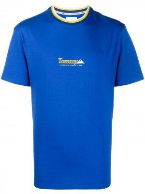 Футболка с логотипом Tommy Jeans. Цвет: синий