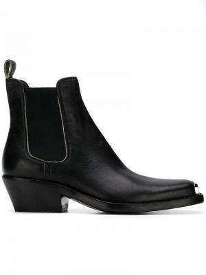 Ботинки-челси в ковбойском стиле Calvin Klein 205W39nyc. Цвет: черный