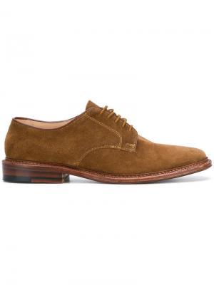 Lace-up Derby shoes Alden. Цвет: коричневый