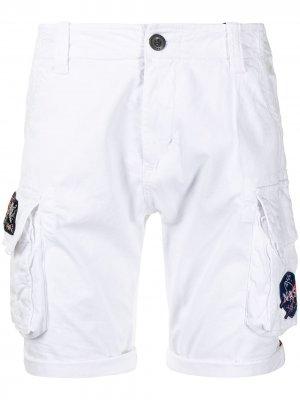 X NASA cargo shorts Alpha Industries. Цвет: белый