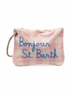 Клатч с вышитым логотипом Mc2 Saint Barth Kids. Цвет: розовый
