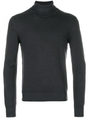 La Fileria For Daniello пуловер с отворотной горловиной D'aniello. Цвет: серый