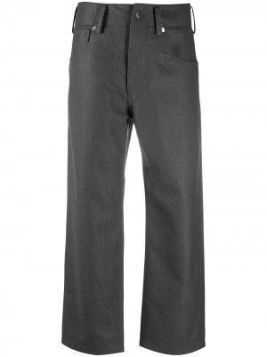 Sofie Dhoore укороченные брюки с завышенной талией D'hoore. Цвет: серый