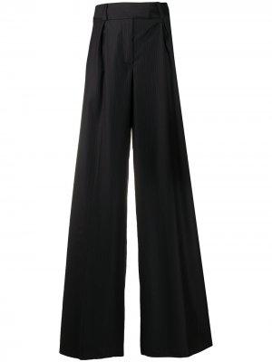 Широкие брюки 2000-х годов в тонкую полоску Gianfranco Ferré Pre-Owned. Цвет: синий