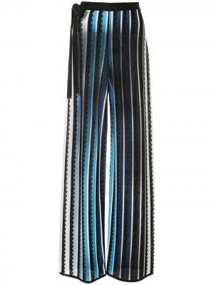 Трикотажные брюки с фестонами Mary Katrantzou. Цвет: синий
