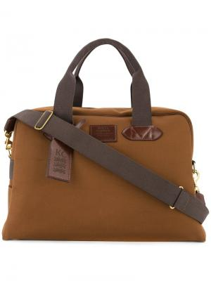 Дорожная сумка с контрастной отделкой Kent & Curwen. Цвет: коричневый
