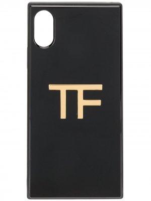 Чехол для iPhone X с логотипом Tom Ford. Цвет: черный