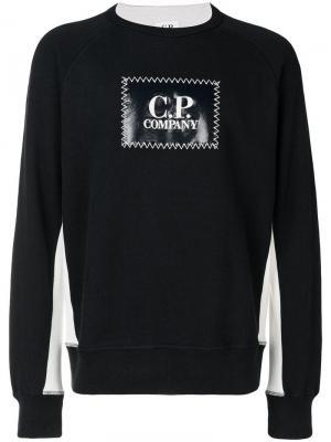 Logo patch sweatshirt CP Company. Цвет: синий