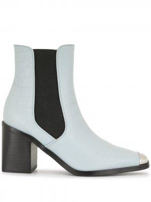 Ботильоны с металлическим носком Senso. Цвет: синий