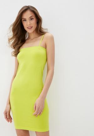 Платье Noisy May. Цвет: желтый
