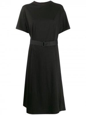Платье с поясом Y-3. Цвет: черный