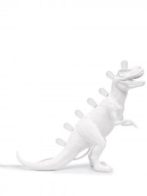 Настольная лампа в виде тираннозавра Seletti. Цвет: белый