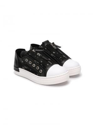 Softy low-top sneakers Cinzia Araia Kids. Цвет: черный