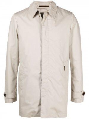 Пальто с потайной застежкой Moorer. Цвет: нейтральные цвета