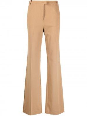 Расклешенные брюки Pinko. Цвет: коричневый