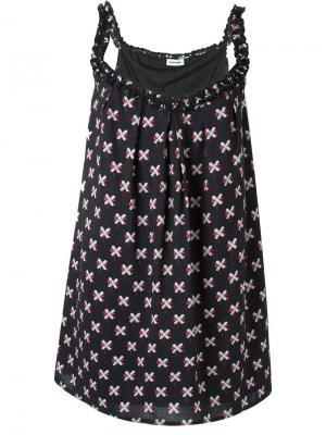 Платье с узором из крестов Au Jour Le. Цвет: чёрный