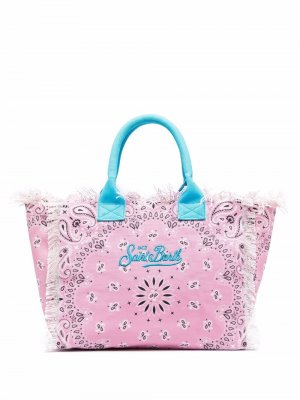 Пляжная сумка с логотипом Mc2 Saint Barth. Цвет: розовый