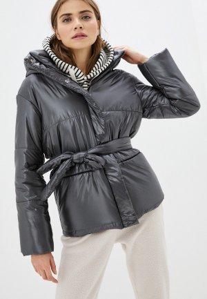 Куртка утепленная TrendyAngel. Цвет: серый