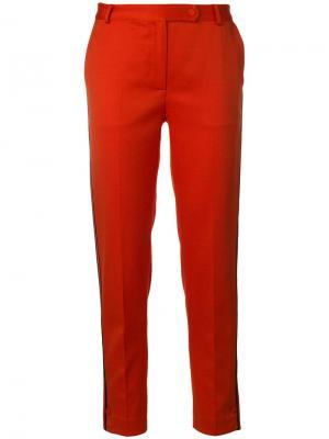 Укороченные классические брюки Styland. Цвет: желтый