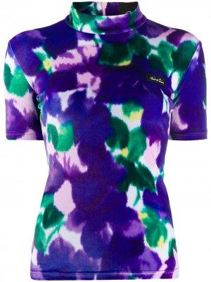 Блузка с цветочным принтом Richard Quinn. Цвет: фиолетовый