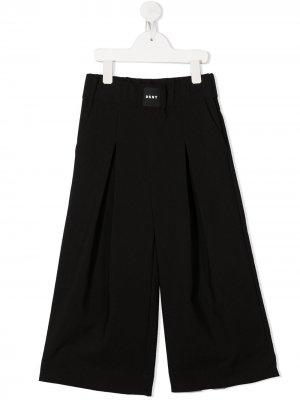 Широкие брюки со складками Dkny Kids. Цвет: черный