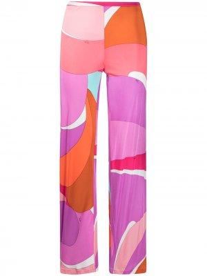 Брюки bootcut в стиле колор-блок Emilio Pucci Pre-Owned. Цвет: розовый
