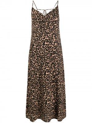 Платье-комбинация Asta с леопардовым принтом Baum Und Pferdgarten. Цвет: черный