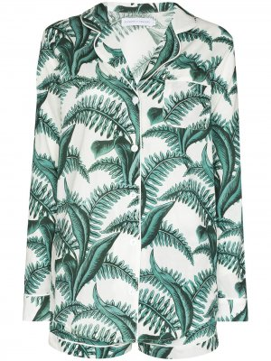 Пижама с принтом Fern Desmond & Dempsey. Цвет: белый