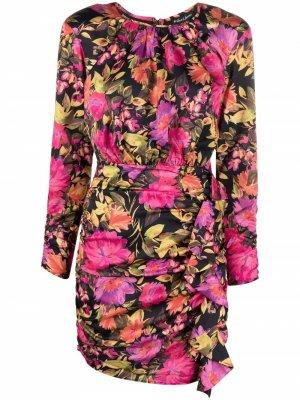 Платье мини с цветочным принтом For Love And Lemons. Цвет: розовый