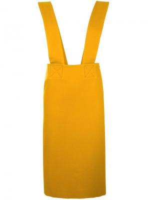 Юбка с подтяжками Each X Other. Цвет: жёлтый и оранжевый