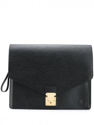 Портфель Senateur pre-owned Louis Vuitton. Цвет: черный