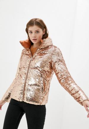 Куртка утепленная B.Style. Цвет: золотой