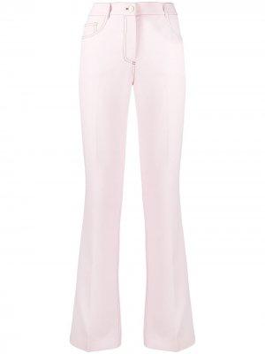 Прямые джинсы средней посадки Giambattista Valli. Цвет: розовый