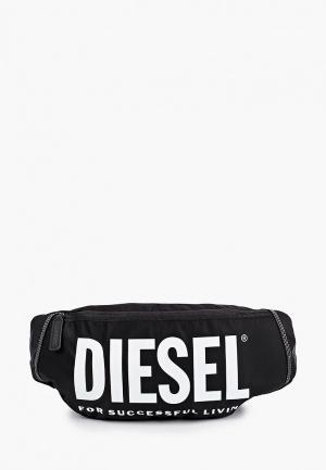 Сумка поясная Diesel. Цвет: черный