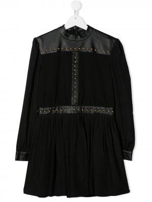 Платье миди с заклепками John Richmond Junior. Цвет: черный
