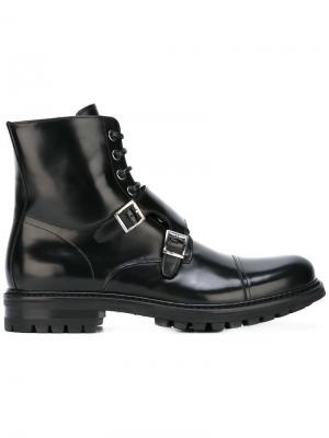 Ботинки Flint B Store. Цвет: чёрный