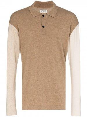 Рубашка-поло с контрастными рукавами Loreak Mendian. Цвет: нейтральные цвета