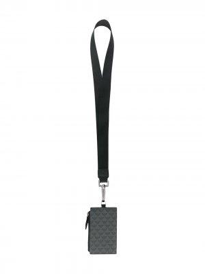 Ланъярд с логотипом Emporio Armani. Цвет: черный