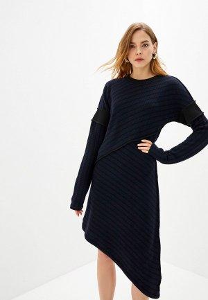 Платье MM6 Maison Margiela. Цвет: синий