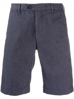 Твиловые шорты чинос Corneliani. Цвет: синий