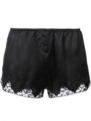 Пижамные шорты Josephine Morgan Lane. Цвет: черный
