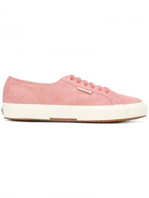 Кроссовки на шнуровке Superga. Цвет: розовый