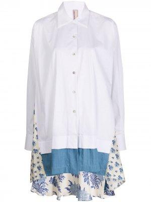 Рубашка оверсайз со вставками Antonio Marras. Цвет: белый