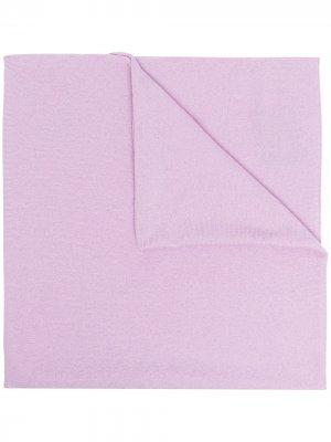 Кашемировый шарф тонкой вязки Pringle of Scotland. Цвет: фиолетовый