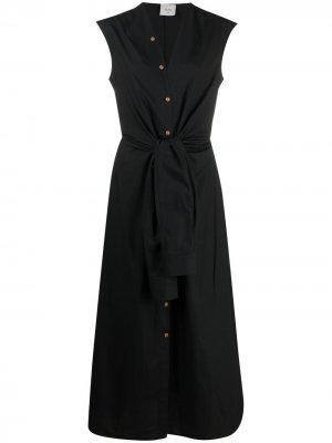 Платье-рубашка с короткими рукавами Alysi. Цвет: черный