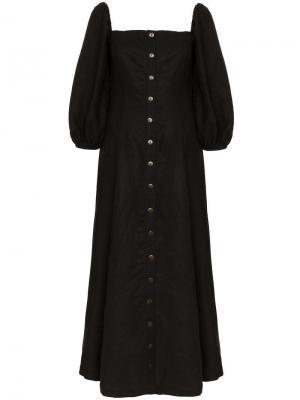 Платье макси Marlow Mara Hoffman. Цвет: черный