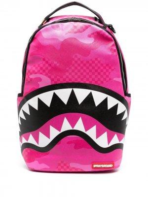 Рюкзак с принтом Sprayground. Цвет: розовый