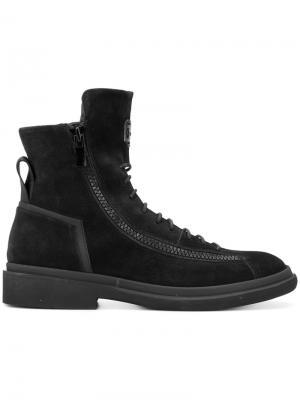 Ботинки по щиколотку на шнуровке Bruno Bordese. Цвет: чёрный